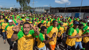 13de uitgave van de Grote Ethiopische Looppas Stock Fotografie