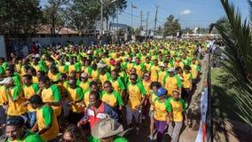 13de uitgave van de Grote Ethiopische Looppas Stock Foto