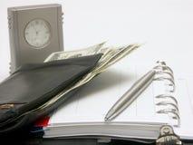 De uitgaven van de planning Stock Foto