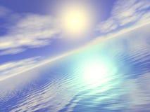 De uitgestrektheid van de oceaan - bij dageraad stock illustratie