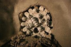 De Uitgraving van de tunnel Stock Foto's