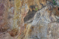 De uitgravingen van de grintkuil royalty-vrije stock afbeeldingen