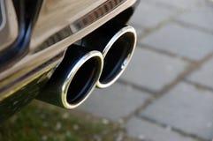 De uitlaat van Sportscar royalty-vrije stock afbeeldingen