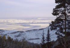De uitlopervlakte van Altai Belokurikha royalty-vrije stock foto's