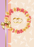 De uitnodiging/de groetkaart van het huwelijk Royalty-vrije Stock Foto's