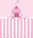 De Uitnodiging van Cupcake Stock Foto's