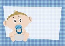 De Uitnodiging van de babydouche Stock Foto's