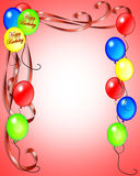 De Uitnodiging van de Ballons van de verjaardag Royalty-vrije Stock Fotografie