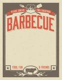De Uitnodiging van de binnenplaatsbarbecue Stock Afbeelding