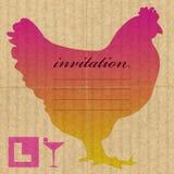 De uitnodiging van de de nachtpartij van de kip Stock Foto's