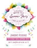 De Uitnodiging van de de zomerpartij Royalty-vrije Stock Afbeeldingen