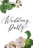 De uitnodiging van de huwelijkspartij Stock Fotografie