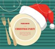 De uitnodiging van de Kerstmispartij Stock Afbeelding