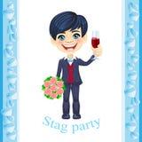 De uitnodiging van de mannetjespartij Royalty-vrije Stock Foto's