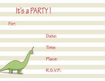 De uitnodiging van de partij Stock Foto's