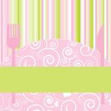 De Uitnodiging van de Partij van het menu of van het Diner Royalty-vrije Stock Foto's