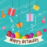 De uitnodiging van de verjaardagskaart Stock Afbeelding