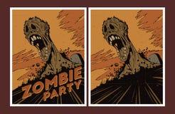 De uitnodiging van de zombiepartij Stock Foto's