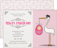 De Uitnodiging van het babymeisje Stock Fotografie