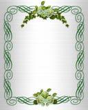 De uitnodiging van het de grensHuwelijk van de Hydrangea hortensia van de klimop Stock Foto