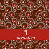 De uitnodiging van het diner Stock Fotografie