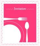 De Uitnodiging van het diner Royalty-vrije Stock Fotografie