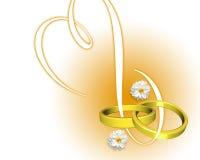 De uitnodiging van het huwelijk stock illustratie