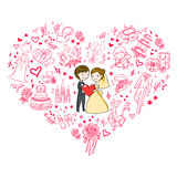 De uitnodiging van het huwelijk Stock Afbeeldingen
