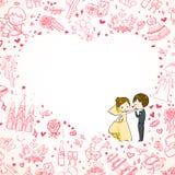 De uitnodiging van het huwelijk Royalty-vrije Stock Afbeelding