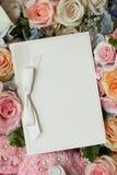 De uitnodiging van het huwelijk stock foto's