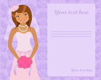 De uitnodiging van het huwelijk Stock Afbeelding
