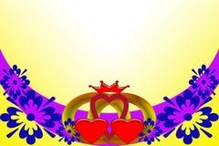 De uitnodiging van het huwelijk Abstract beeld met multicolored elementen vector illustratie