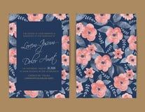 De uitnodiging van het huwelijk Bloemen achtergrond Royalty-vrije Stock Fotografie