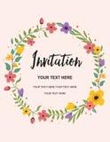 De uitnodiging van het huwelijk, groetkaart Ontwerp cirkel het Vector van de Achtergrondmalplaatjeillustratie Royalty-vrije Stock Fotografie