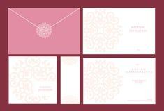 De uitnodigingen van het huwelijk Stock Afbeelding