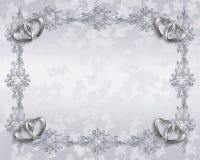 De uitnodigings elegante grens van het huwelijk Royalty-vrije Stock Foto