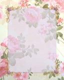 De uitnodigings roze rozen van het huwelijk stock illustratie