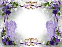 De uitnodigings Victoriaanse engelen van het huwelijk Stock Afbeeldingen