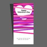 De uitnodigings violete roze van valentijnskaarten Royalty-vrije Stock Foto's