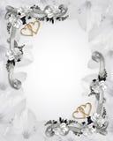 De uitnodigings witte magnolia's van het huwelijk Stock Afbeeldingen