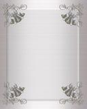 De uitnodigings zilveren klokken van het huwelijk Stock Afbeelding