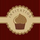 De uitnodigingsachtergrond van Cupcake Vector Illustratie