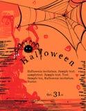 De uitnodigingsaffiche van Halloween Royalty-vrije Stock Fotografie
