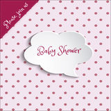 De uitnodigingskaart/meisjes van de babydouche Royalty-vrije Stock Foto's