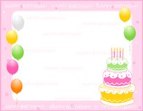 De uitnodigingskaart van de verjaardag Royalty-vrije Stock Fotografie