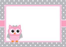 De Uitnodigingskaart van het babymeisje Royalty-vrije Stock Fotografie