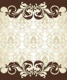 De uitnodigingskaart van het damast Royalty-vrije Stock Afbeeldingen