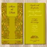De uitnodigingskaart van het de herfst tansy huwelijk Voor het drukken geschikte Vectorillustratie Stock Foto