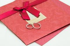 De uitnodigingskaart van het huwelijk Stock Foto's