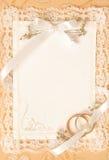 De uitnodigingskaart van het huwelijk Stock Fotografie